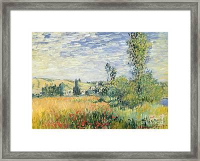 Vetheuil Framed Print by Claude Monet