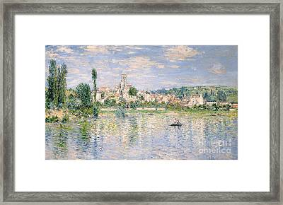Vetheuil In Summer, 1880 Framed Print by Claude Monet