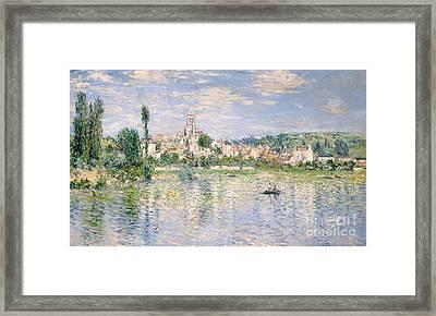 Vetheuil In Summer, 1880 Framed Print
