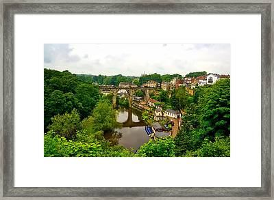 Viaduct Over The River Nidd Framed Print by Barry Marsh