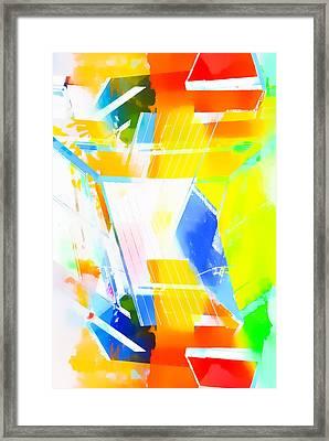 Vibrant Abstract Framed Print