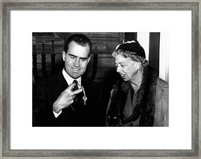 Vice President Richard Nixon Framed Print by Everett