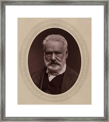 Victor Hugo Framed Print by Etienne Carjat