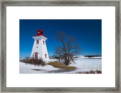 Victoria By The Sea Lighthouse Framed Print by Verena Matthew
