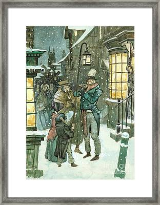 Victorian Christmas Scene Framed Print