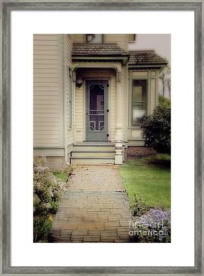 Framed Print featuring the photograph Victorian Porch by Jill Battaglia