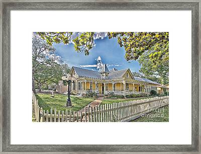 Victorian Sunday House Framed Print