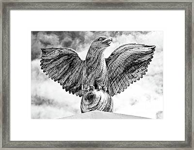 Framed Print featuring the photograph Victorious Eagle Of Marble by Yurix Sardinelly