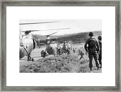 Vietnam Us Army Advisors Framed Print