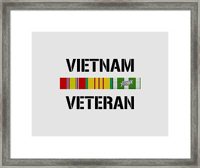 Vietnam Veteran Ribbon Bar Framed Print