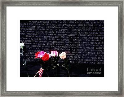 Vietnam Veterans Memorial Framed Print by Thomas R Fletcher