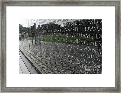 Vietnam Wall Framed Print by Pam Schmitt