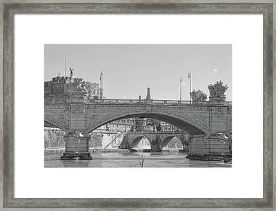 View Along The Lungotevere Framed Print