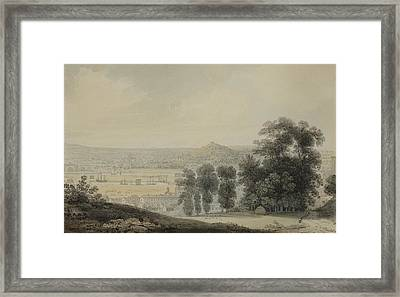 View From Clifton Hill Framed Print by Francis Danby