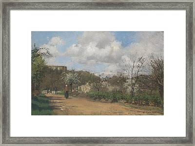 View From Louveciennes Framed Print by Camille Pissarro