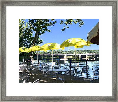 View From Martine Framed Print by Addie Hocynec