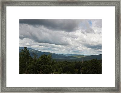 Framed Print featuring the photograph View From Mount Washington by Suzanne Gaff