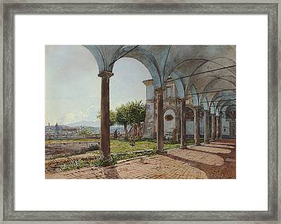 View From Sant'onofrio On Rome  Framed Print