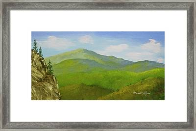 Framed Print featuring the painting View From The Bluffs by Frank Wilson