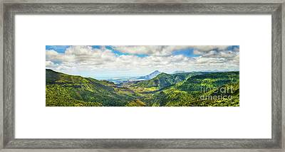 View From The Gorges Viewpoint. Mauritius. Panorama Framed Print