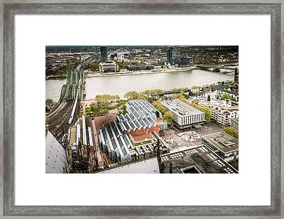 View From The Top - Cologne Cathedral - Germany Framed Print by Jon Berghoff