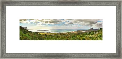 View From The Viewpoint. Mauritius. Panorama Framed Print