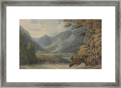 View In Borrowdale Of Eagle Crag And Rosthwaite Framed Print by Francis Towne