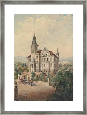 View Of A Swiss Villa Framed Print