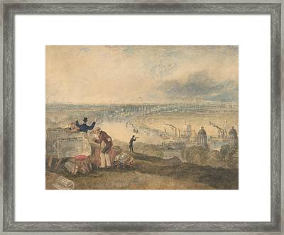 View Of London From Greenwich Framed Print by Joseph Mallord William Turner