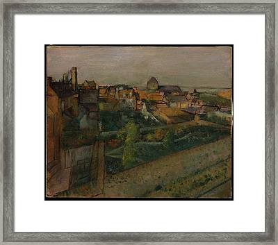 View Of Saint-valry-sur-somme Framed Print by Edgar Degas