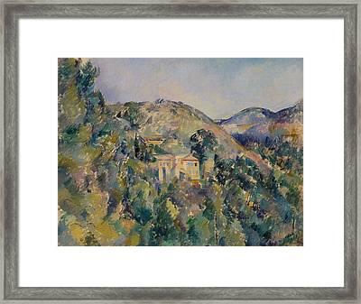 View Of The Domaine Saint-joseph Framed Print by Paul Cezanne