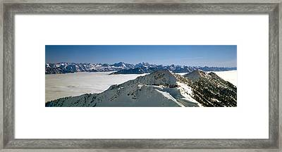 View Of The Kicking Horse Resort Framed Print