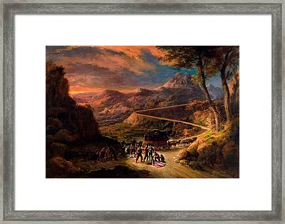 View Of The Port Of Miravete Framed Print by MotionAge Designs