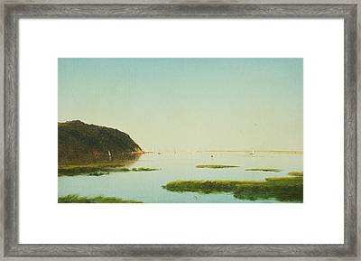View Of The Shrewsbury River New Jersey Framed Print