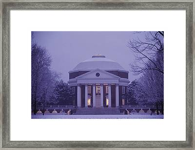 View Of The University Of Virginias Framed Print by Kenneth Garrett