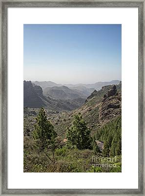 View On Gran Canaria Framed Print by Patricia Hofmeester