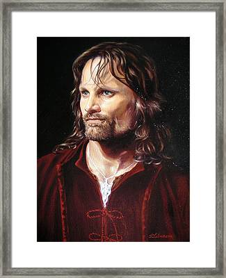 Viggo Mortensen As Aragorn Framed Print by Yulia Litvinova