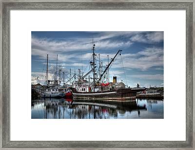 Viking Sunrise Framed Print by Randy Hall