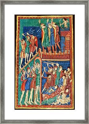 Vikings Invade England 9th Century Framed Print