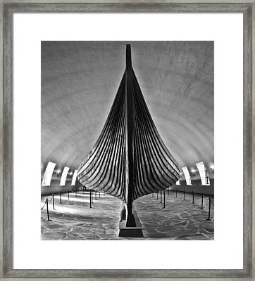 Vikingship Framed Print