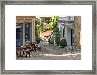 Village Square Framed Print