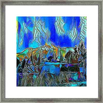village - My WWW vikinek-art.com Framed Print