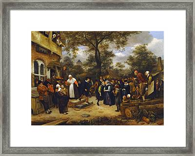 Village Wedding Framed Print