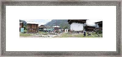 Villagescape Framed Print by Sumit Mehndiratta