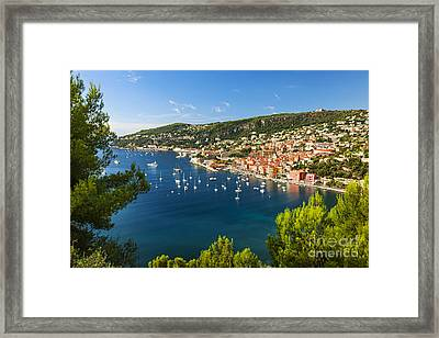Villefranche-sur-mer And Cap De Nice On French Riviera Framed Print by Elena Elisseeva