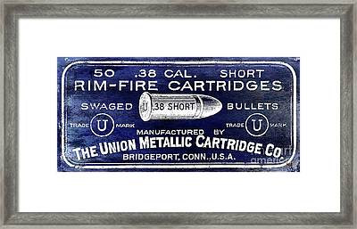 Vintage Ammunition Sign Framed Print by Jon Neidert