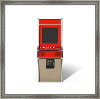Vintage Arcade Machine Framed Print