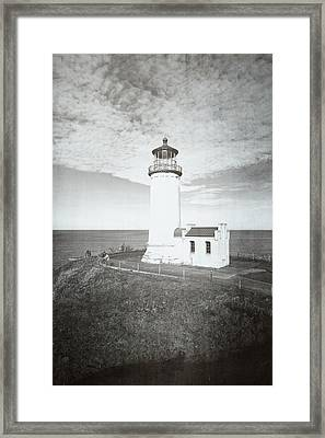 Vintage Cape Disappointment Lighthouse Framed Print by Rich Leighton
