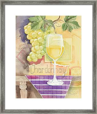 Vintage Chardonnay Framed Print by Paul Brent