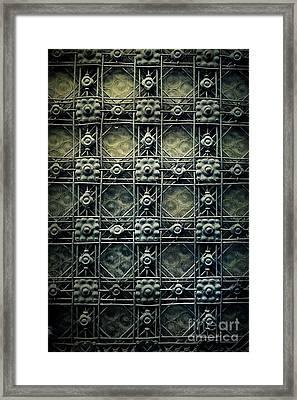 Vintage Door Framed Print by Mythja Photography